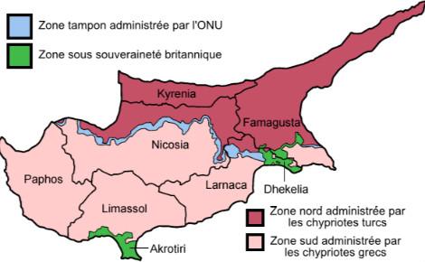 La division de Chypre. Illustration (c) Historicair