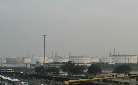 La raffinerie de pétrole Mina Al Ahmadi, au sud du Koweït. Photo (c) Bulent Inan.
