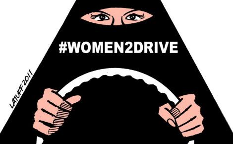 Caricature relative à la campagne #women2drive lancée en 2011 sur les réseaux sociaux pour le droit de conduire des Saoudiennes. Photo (c) Carlos Latuff.