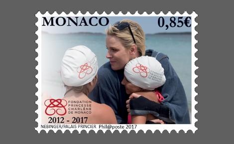 L'un des timbres. Photo originale (c) F. Nebinger / Palais Princier
