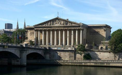 Le Palais Bourbon, siège de l'Assemblée Nationale française. Photo (c) Jebulon.