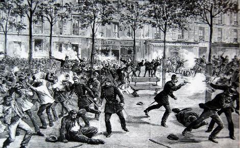 L'échauffourée de Clichy le 1er mai 1891. Image du domain public.