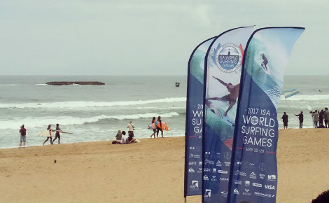 Biarritz accueille les championnats du monde de surf. Photo (c) Julie Cartelier
