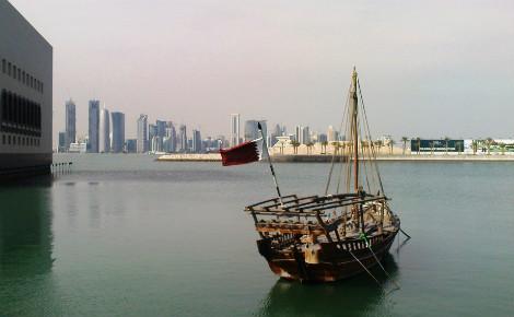 Navire de pêche à Doha. Photo (c) Urbanplay.