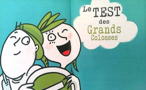Le Test des Grands Colosses destinés au enfants. Illustration (c) Julie Cartelier. Cliquez ici pour accéder au site de l'association