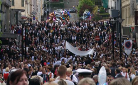 Ville de Bergen en Norvège le jour de la fête nationale. Photo (c) Buen Viajero