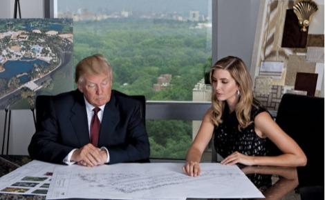 Donald et Ivanka Trump. Photo publiée par @ivankatrump sur Instagram le 26 janvier 2015.