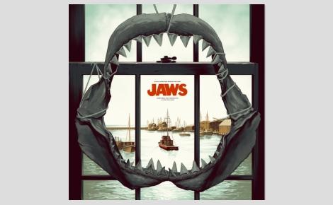 """Image du vinyle """"Jaws"""". Cliquez ici pour pré-commander le double disque"""