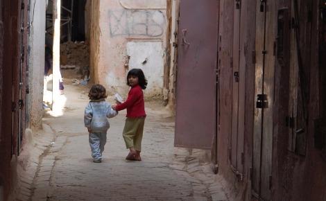Enfants au Maroc. Image du domaine public