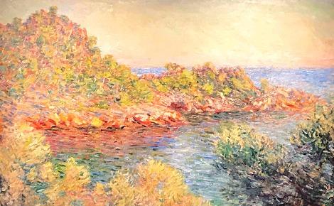 """""""Près Monte-Carlo"""", Claude Monet, 1883, image partielle du tableau. Photo (c) Charlotte Service-Longépé"""