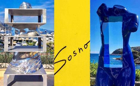 Sculptures de Sacha Sosno. Photo-montage (c) Charlotte Service-Longépé