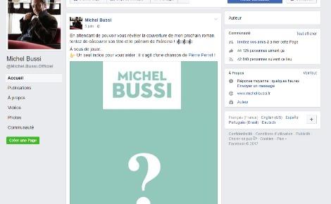 Copie écran de la page Facebook de Michel Bussi