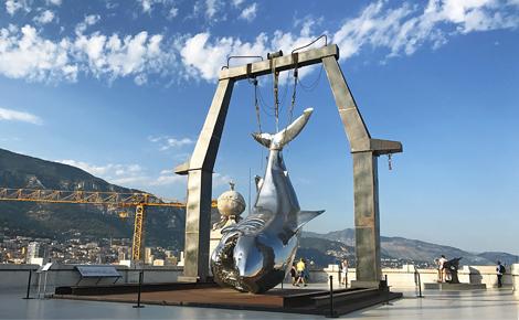 Who should be scared? sculpture, Philippe Pasqua Photo (c) Charlotte Service-Longépé