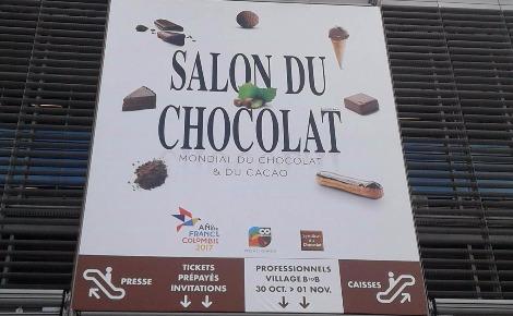 Salon du chocolat. Photo prise par Sarah Barreiros.