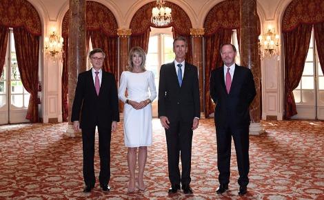 Gilles Tonnelli avec les ambassadeurs.  Photo courtoisie (c) Manuel Vitali / DC