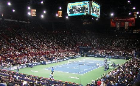 Finale Nadal - Wawrinka en 2007 à Paris-Bercy. Photo (c) Patrice