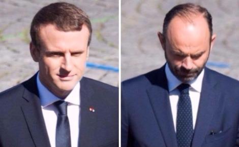 Emmanuel Macron et Édouard Philippe. Photos du domaine public.