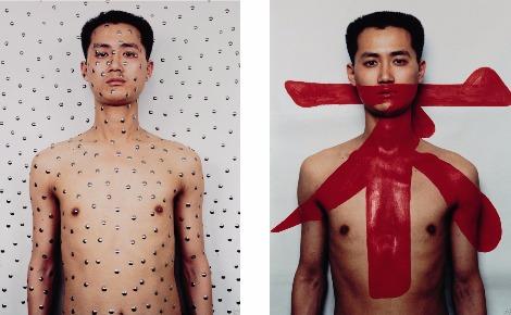 """""""Tattoo II"""", 1994. Photo courtoisie (c) Qiu Zhijie"""