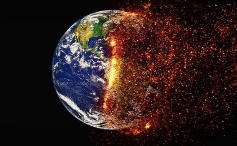 Illustration du réchauffement climatique. Image libre de droit.