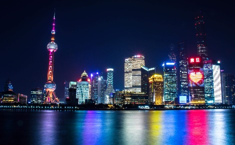 Vue du quartier de Pudong depuis le Bund. Photo (c) Tanguy Lepage.