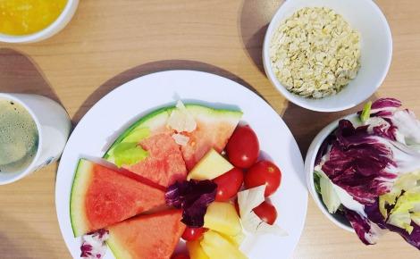 Manger sain et équilibré, en accord avec la chrononutrition. Photo prise par l'auteur.