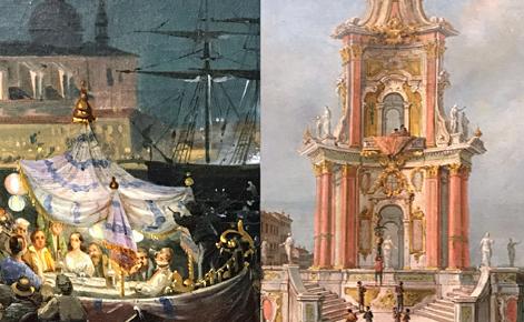 Merveilles des vedutistes, Lampronti Gallery. Photos et montage (c) Charlotte Service-Longépé