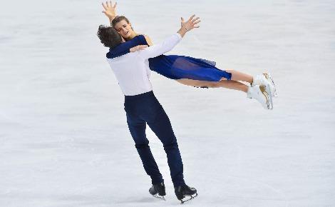 Gabrielle Papadakis et Guillaume Cizeron, champions d'Europe 2018. Photo (c) Olivier Brajon, publiée avec son autorisation.