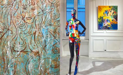 """""""Lysea"""" par Murielle Grander Cransac et autres sculpture exposées. Photos et montage (c) Charlotte Service-Longépé"""
