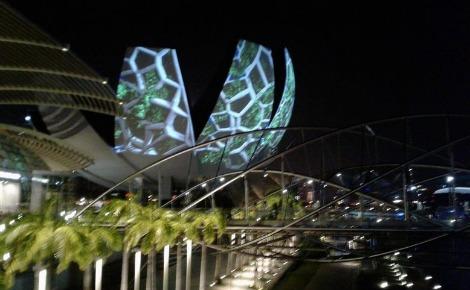 La vue du musée ArtScience à Singapour. Photo prise par Sarah Barreiros.