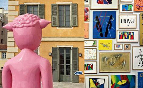 """""""Le cas Moya"""" à la Galerie Lympia de Nice. Photos et montage (c) Charlotte Service-Longépé"""