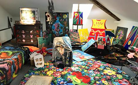 La chambre de Moya l'avatar sous les combles. Photo (c) Charlotte Service-Longépé