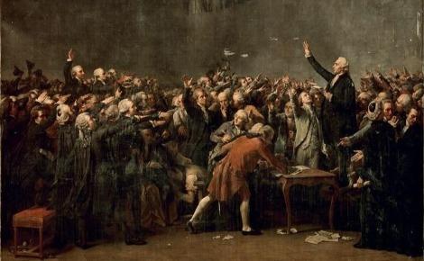"""""""Le Serment du Jeu de paume"""" par David. Image du domaine public."""