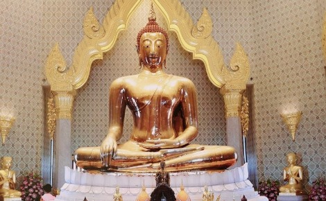 Le Bouddha d'or. Photo (c) Sarah Barreiros