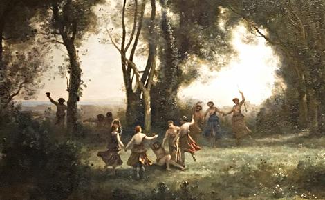 Corot, Une matinée: la danse des nymphes. Photo (c) Charlotte Service-Longépé