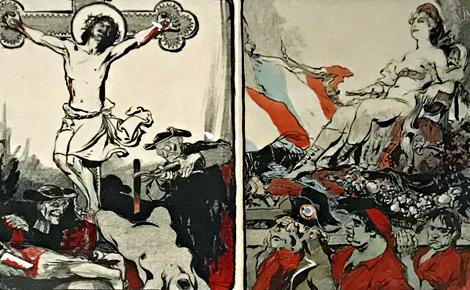Caricature de presse. Photo (c) Charlotte Service-Longépé