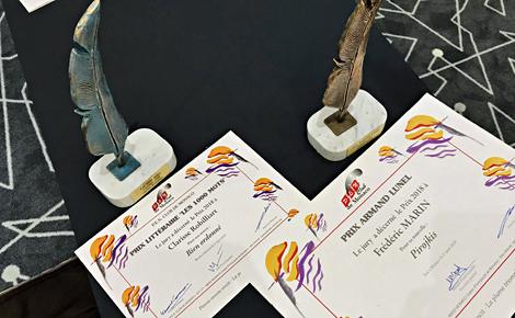 Trophées en bronze conçus par la plasticienne monégasque Belinda Bussotti. Photo (c) Charlotte Service-Longépé