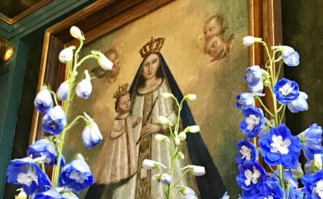 Représentation de Notre Dame de Laghet. Photo (c) Charlotte Service-Longépé