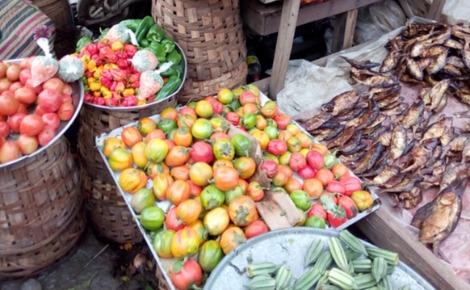 Une vue du marché du PK 14. Photo prise par l'auteur.