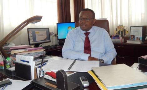 Le directeur général des douanes malgaches, Eric Narivony Rabenja. Photo prise par l'auteur