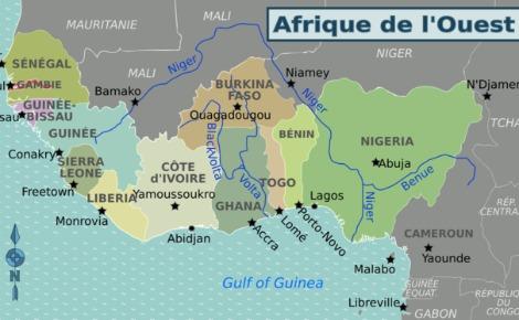 Carte d'Afrique de l'Ouest (c) Peter Fitzgerald