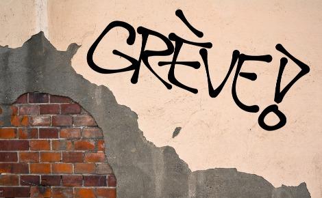 Graffiti en faveur de bonnes conditions de travail - Photo (c) M-SUR