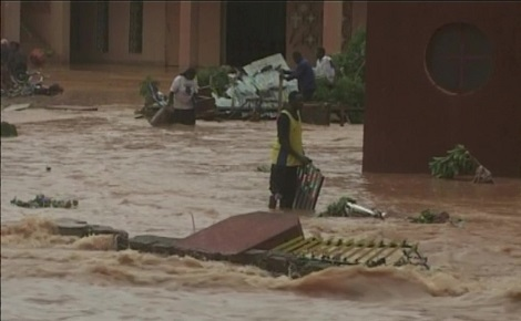 Inondation à Ouagadougou. Photo (c) P. Ilboudo