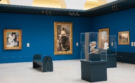 L'exposition reconstitue la fameuse Salle IX. Nantes, 1886: le scandale impressionniste. Photo (c) Musée d'arts de Nantes, C. Clos