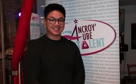 Kevin Kim, un lauréat heureux qui sait rester modeste. Photo (c) M. Cugnot