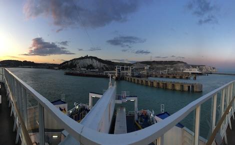 Arrivée en ferry au port de Douvres. Photo (c) Marie Colombier