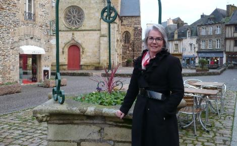 Jacline Mouraud le 25 janvier à Malestroit (Morbihan). Photo (c) Arnaud Gicquello.