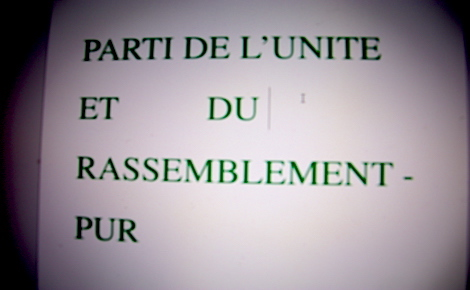 Parti de l'Unité et du Rassemblement, formation politique du candidat Issa Sall (c) Photo de montage de l'auteur