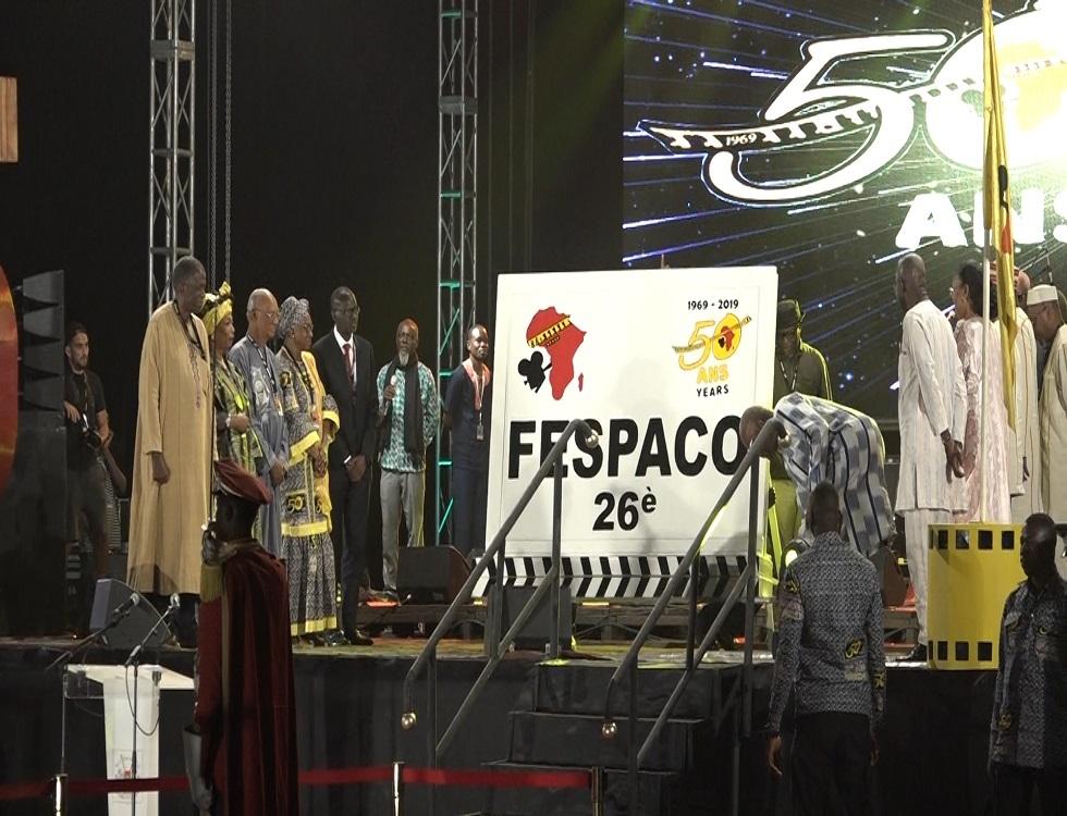 Le président du Faso donnant le clap départ de la 26ème édition du Fespaco. Photo (c) P. Ilboudo
