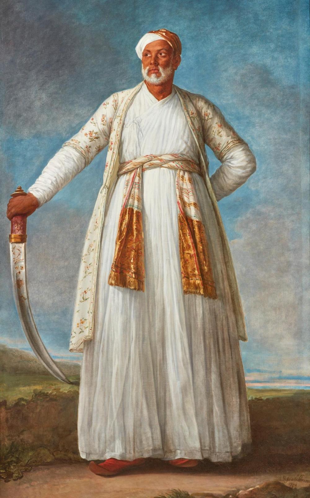 Mohammed Dervich Khan venait solliciter l'aide de Louis XVI dans la guerre contre l'Angleterre qui lui fut refusée (c) google image