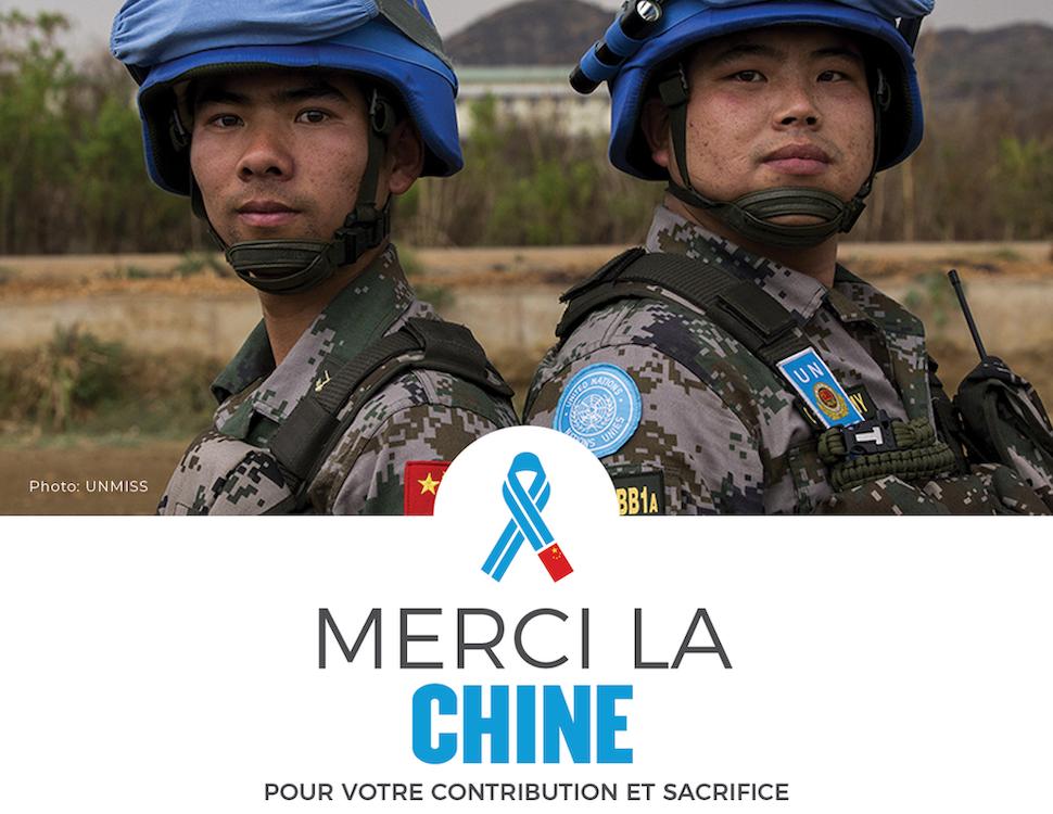 Communication de l'ONU sur la participation de la Chine aux Opérations de Maintien de la Paix (c) UNMISS